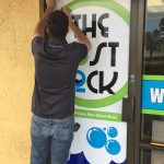 The Lost Sock Exterior Window Vinyl Sign
