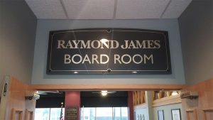 Raymond James Board Room Indoor Sign