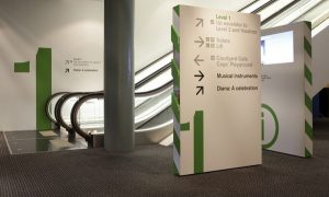 Interior Wayfinding Signage for Office Building