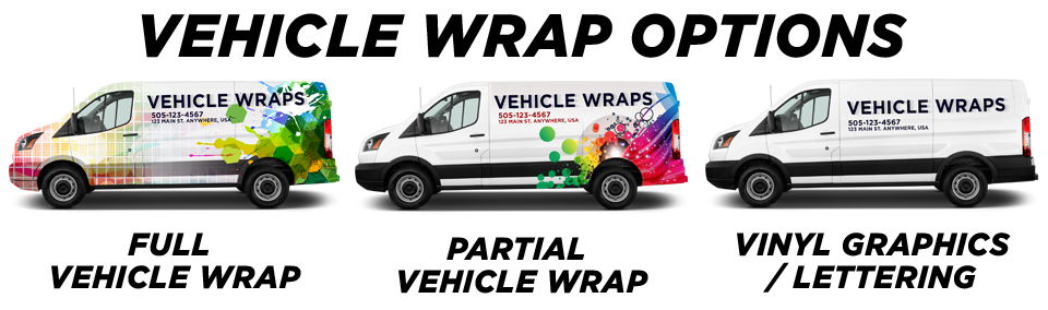 Commercial & Fleet Vehicle Wraps vehicle wrap options