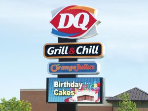 Boulder Business Pole Signs Provide Ultimate Visibility 0092 Dairy Queen Bendsen Sign Graphics W 19mm 80x176 Bloomington IL 101718 1 300x225